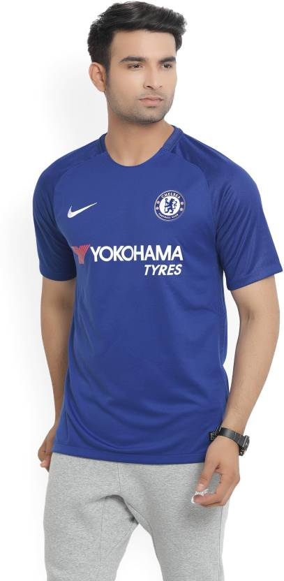 new styles ebfd4 7eaae Nike Chelsea FC Printed Men's Round Neck Blue T-Shirt - Buy ...