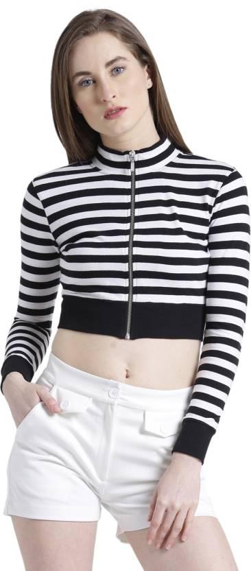 21074f9b80db7 Texco Casual Full Sleeve Striped Women s Black