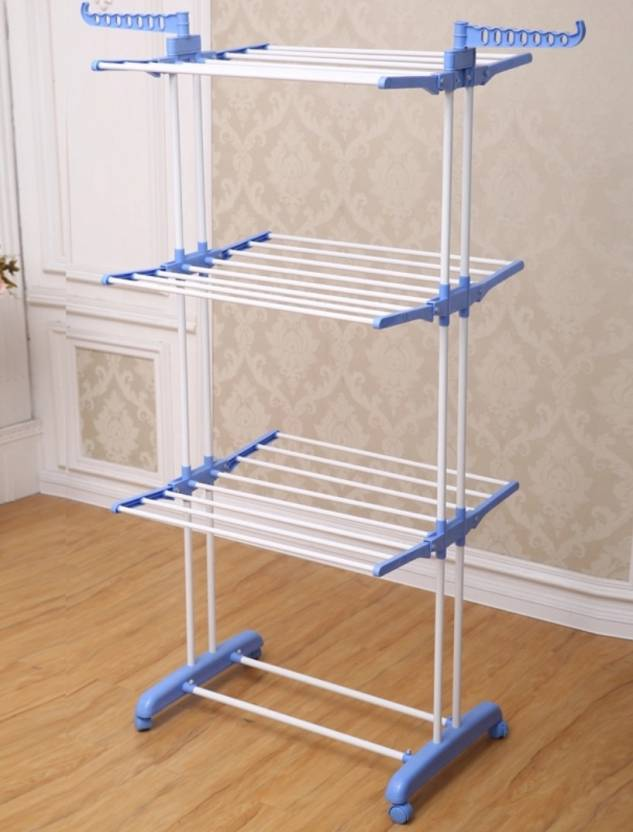 49eb074ed8 SHP SONI HI-QUALITY DELUXE FLOOR CLOTH DRYING STAND Plastic, Carbon Steel  Floor Cloth Dryer Stand (Blue)
