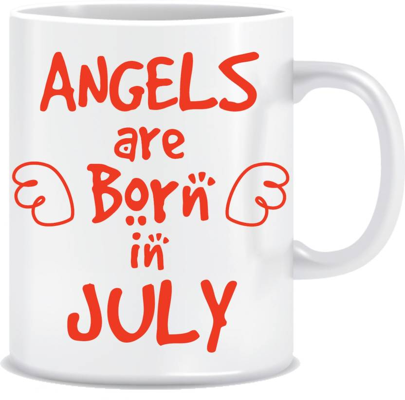 Everyday Desire Angels Are Born In July Ceramic Coffee