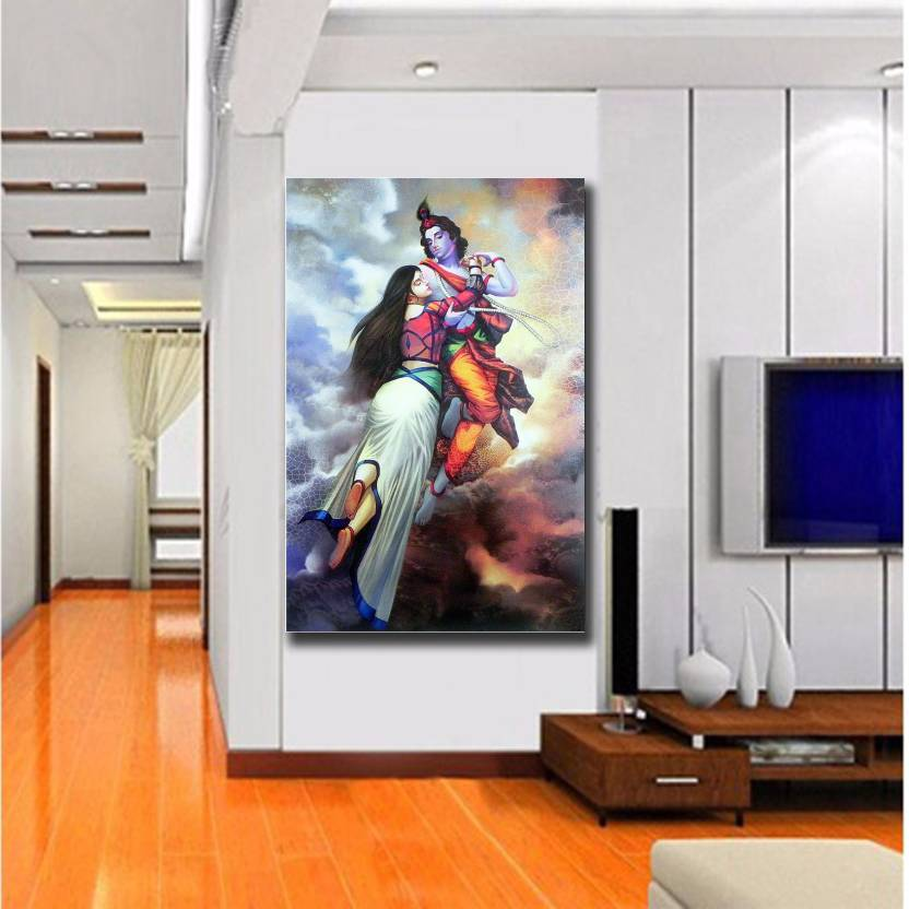 Printed Wallpaper Of Shri Krishna Radha Wall Decor Poster For