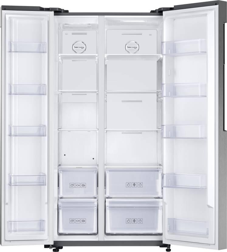 Samsung 674 L Frost Free Side by Side Refrigerator(EZ Clean Steel, RS62K60A7SL/TL)