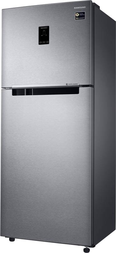 Samsung 394 L Frost Free Double Door Top Mount 4 Star Refrigerator(Real Stainless, RT39M553ESL/TL)