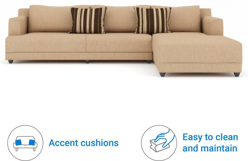 Bharat Lifestyle Mareena Fabric 6 Seater Sofa  (Finish Color – Cream) at Flipkart ₹17,000