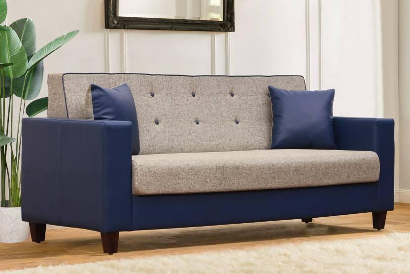 Groovy Peachtree Vegas 3 Seater Beige Fabric Sofa Leatherette 3 Machost Co Dining Chair Design Ideas Machostcouk