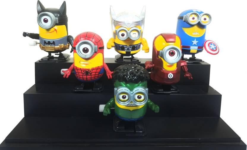 6c4eadb5ff Toy Mela Minion Avengers Action Figure Style Wind up Walking Toy Iron Man