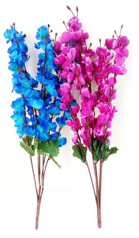 Bluebird Blue Purple Orchidpeony Flower Bunch Blue Purple Orchids