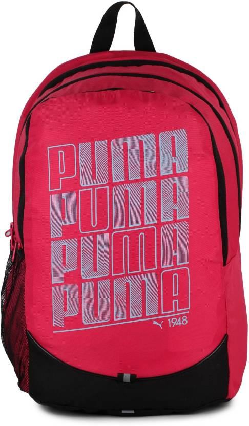aae60a6826c Puma Pioneer IND 23 L Laptop Backpack Pink - Price in India ...