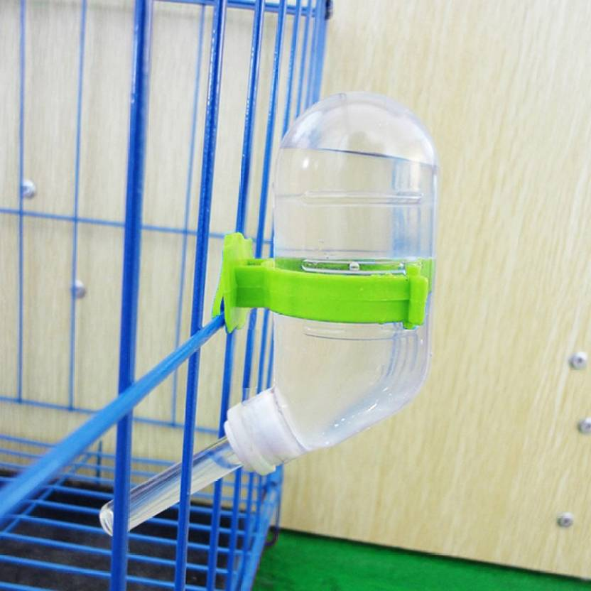 Sage Square Leak Proof Water Feeder for Hamster / Dwarf / Gerbil / Mice /  Guinea Pig / Ferret / Rabbit Round Plastic Pet Bottle