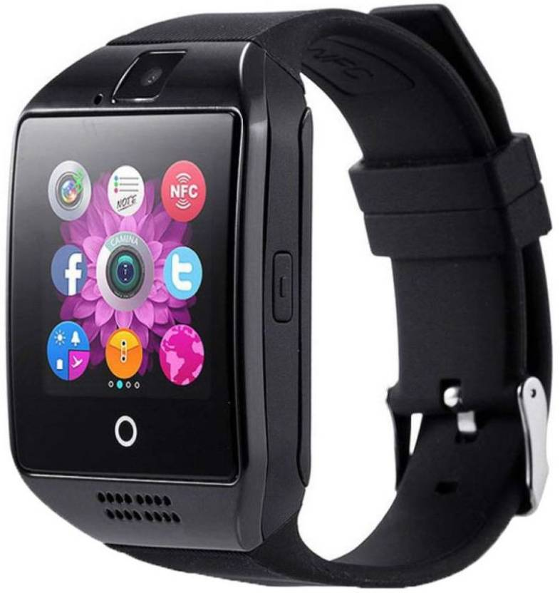 MECKWELL Certified Bluetooth Q18 4G BLACK Wrist Watch Phone with Camera &  SIM Card Support Hot Fashion New Arrival Best Selling Premium Quality  Lowest