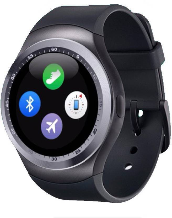 cfec2b730f1 Anaya Pop 4G Calling Smart Mobile watch Compatible With Android   Ios  Smartwatch (Black Strap Regular)