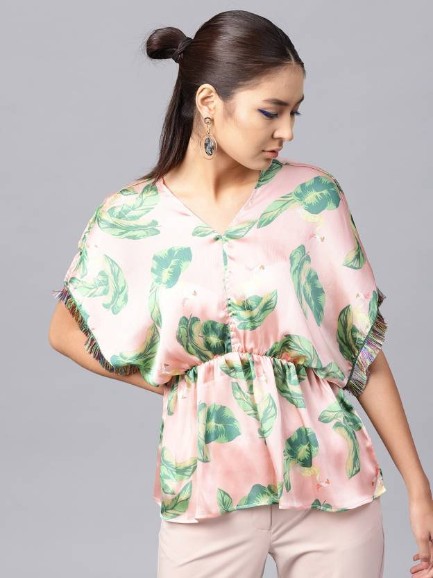 3c12703ef45 Sassafras Casual Kimono Sleeve Floral Print Women s Pink