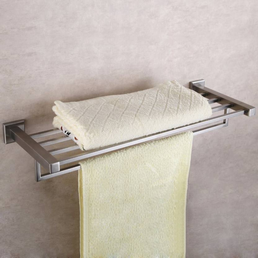 Peachy Garbnoire Stainless Steel Towel Rack Towel Stand Wall Mounted Towel Shelf Towel Bar Of Square Series For Bathroom Washroom Silver Towel Holder Download Free Architecture Designs Rallybritishbridgeorg