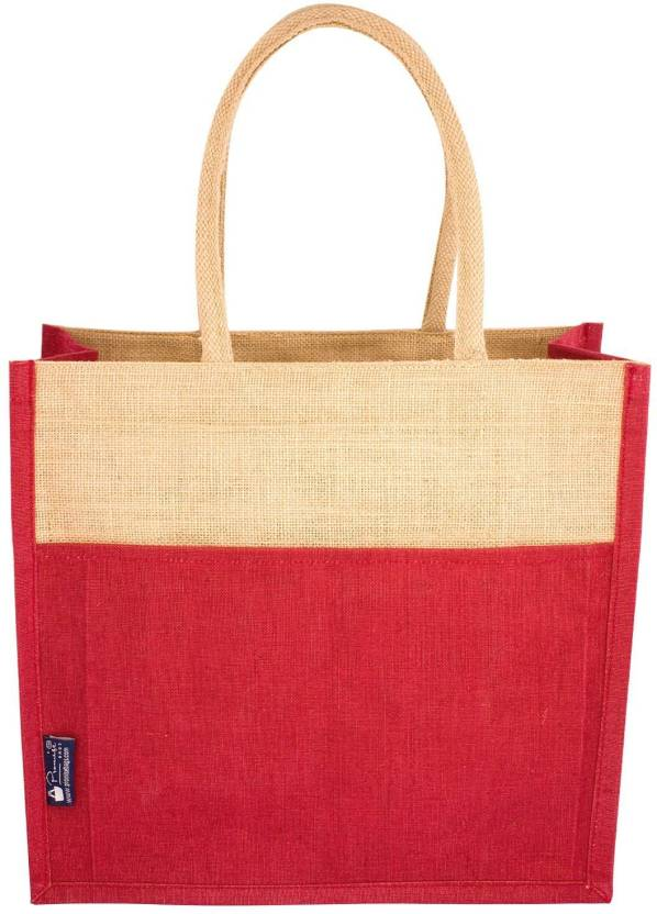 8943a3ca5dc Promise Bags Multipurpose Jute Lunch Bag Handbag Tote Bag For Office  Executive Men Women Girls Unisex Adult Lunch Bag (Red