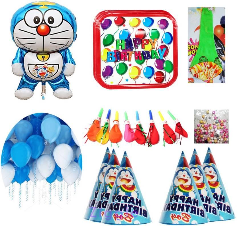 ziggle doremon foil balloons theme doraemon theme birthday party