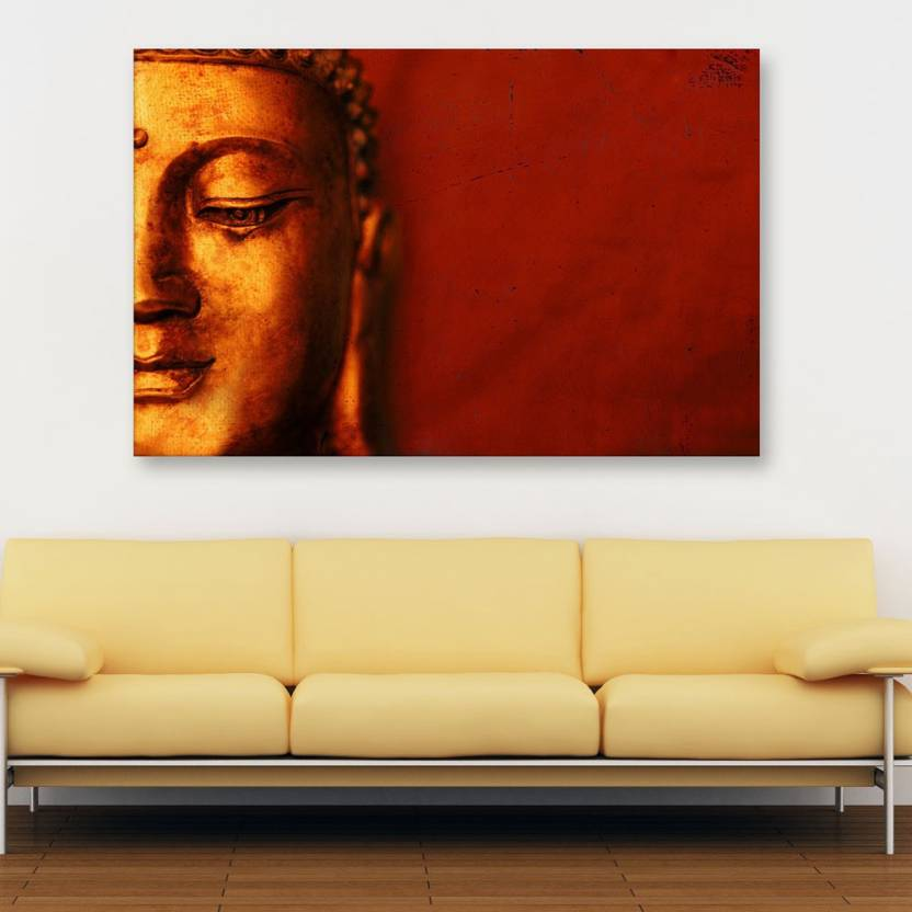 Inephos Unframed Canvas Painting Beautiful Buddha Art Wall Painting For Living Room Bedroom Office Hotels Drawing Room Digital Reprint 61 Cm X