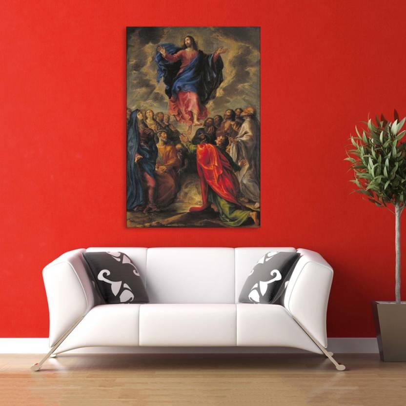 Inephos Unframed Canvas Painting Beautiful Jesus Art Wall Painting