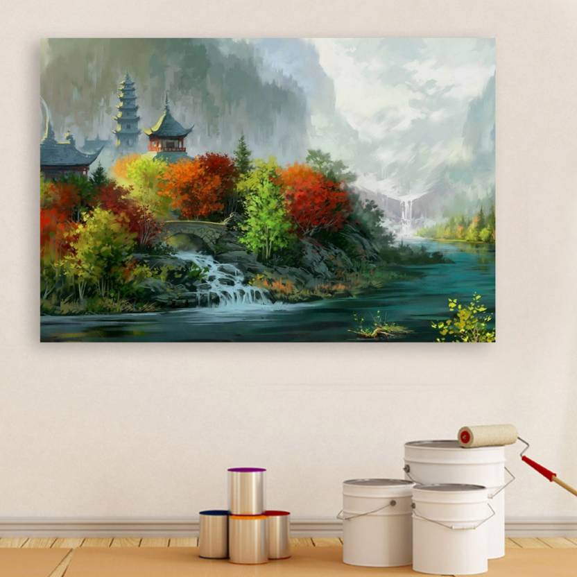 Inephos Unframed Canvas Painting Beautiful Nature Modern Art Wall