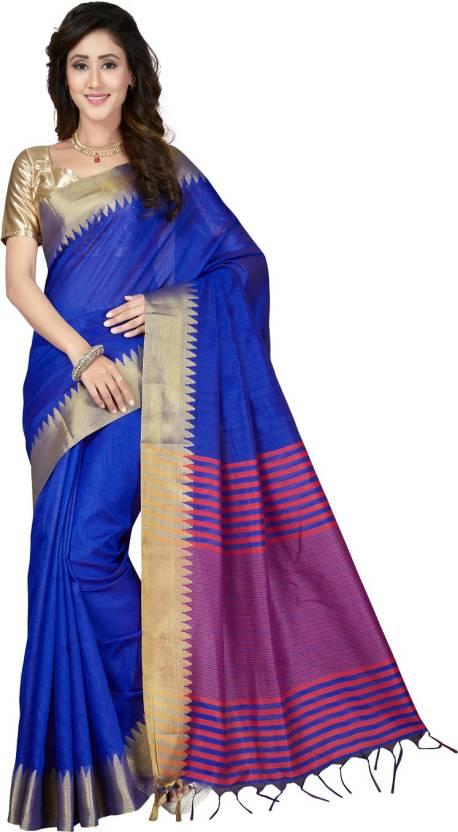 2a6618c03c Buy Saree Swarg Woven Banarasi Art Silk Blue Sarees Online @ Best ...