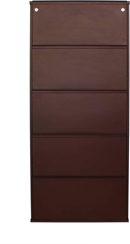 794ba705af7 Peng Essentials 5 Shelves Super Wide(30  ) Metal Shoe Rack Price in ...