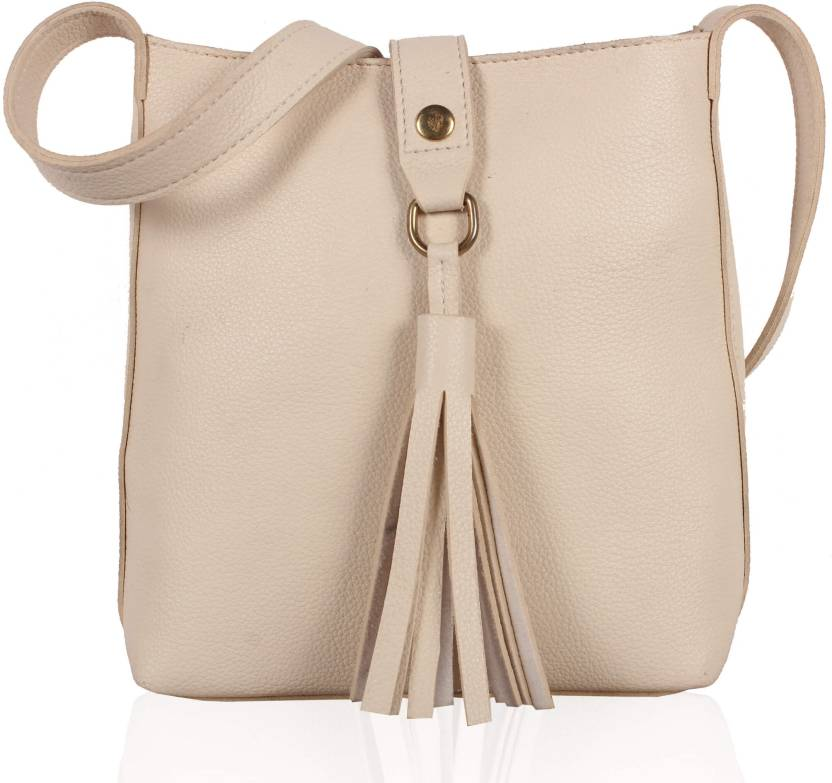 334d766ddf VOAKA Women White PU Sling Bag Off-white - Price in India