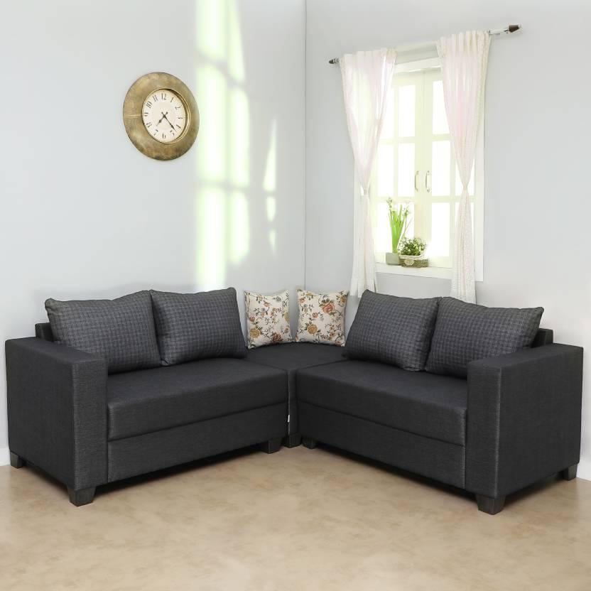 Sofame Lisa Fabric 5 Seater Sofa
