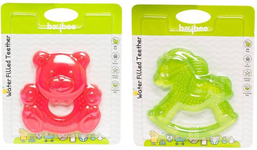 Baybee Teddy Bear and Horse Teething Toys for Best Baby Teether Massage.  Molar Teeth Soother with Soft Sensory BPA Free Natural Silicone Teethers Toy  for ... 2f9cc2090e