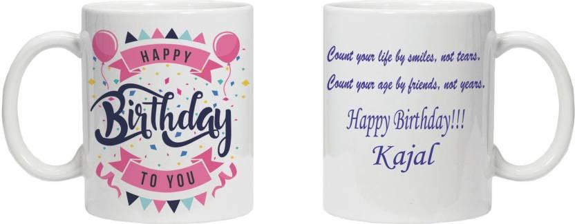 Krstrends Happy Birthday Kajal White Ceramic Ceramic Mug Price In