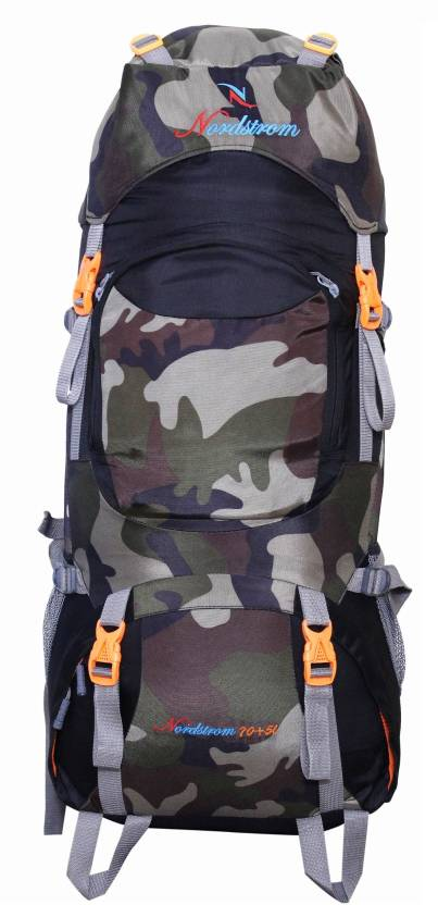 838bde9471 NORDSTROM 0109 Climate Proof Mountain Hiking trekking Campaign  Backpack 75  Ltrs Camouflage