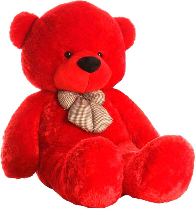 Unique Collection SOFT TOYS 3 Feet Teddy Bear RED Colour