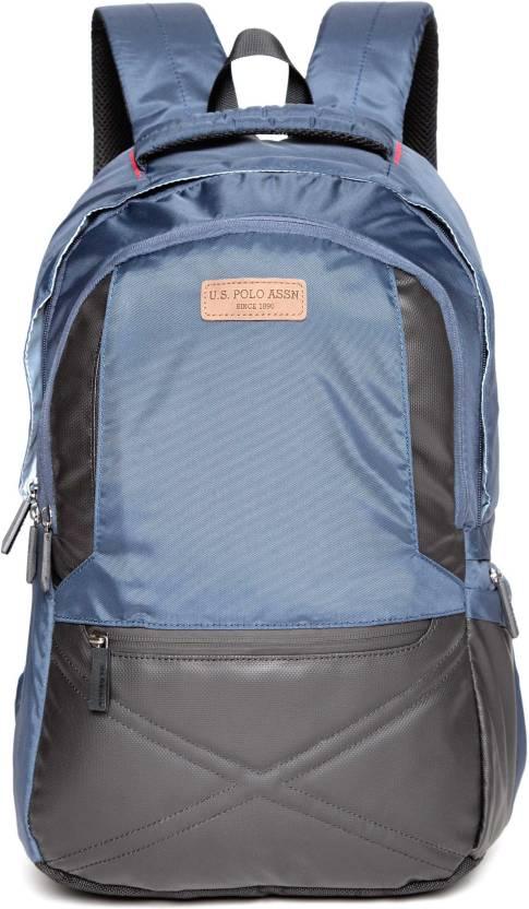 b65033413ae3 U.S. Polo Assn Blue Men Laptop Backpack 4.5 L Laptop Backpack Blue ...