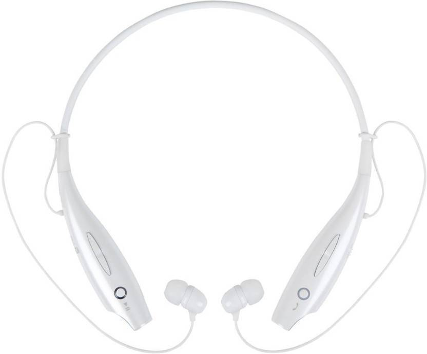 klassy headphone HBS 730 white  0111 Bluetooth Headset with Mic White, In the Ear