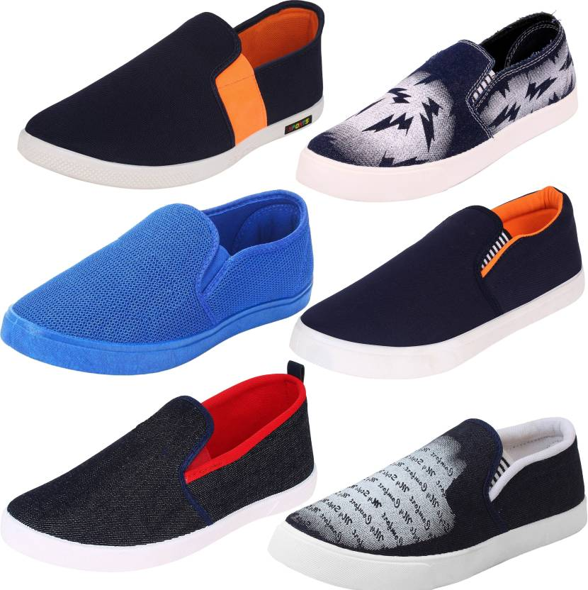 6f0db70ad World Wear Footwear Weekly Pack of Combo Shoes Loafers For Men (Multicolor)