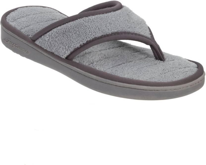 38280afaef8 Dearfoams Terry Thong Flip Flop Slippers Flip Flops - Buy Grey Color Dearfoams  Terry Thong Flip Flop Slippers Flip Flops Online at Best Price - Shop  Online ...