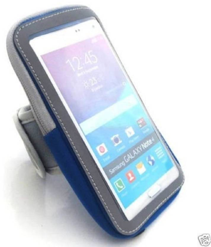 Cubern Arm Band Case for Sports Running Jogging Gym Armband Case with extra pocket Premium quality (Blue, Artificial Leather)