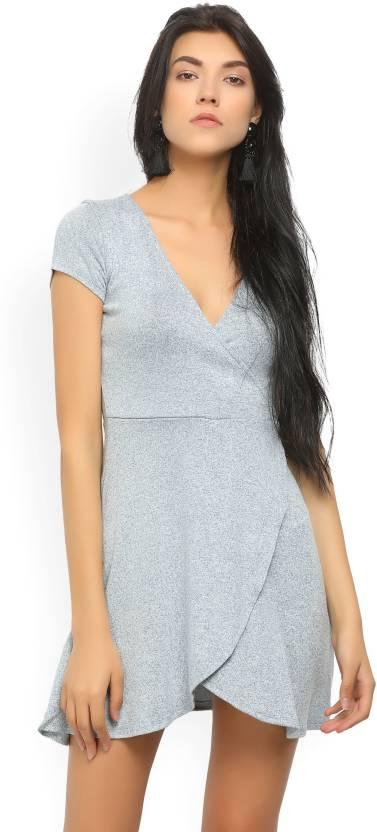 9388d7adb761 Forever 21 Women's Wrap Grey Dress - Buy BLUE Forever 21 Women's ...