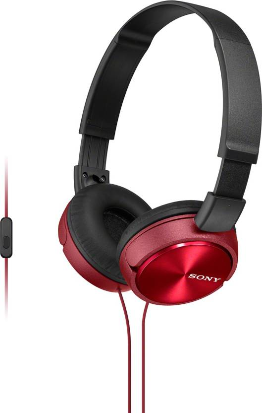 Sony 310AP Wired Headset with Mic Red, Over the Ear