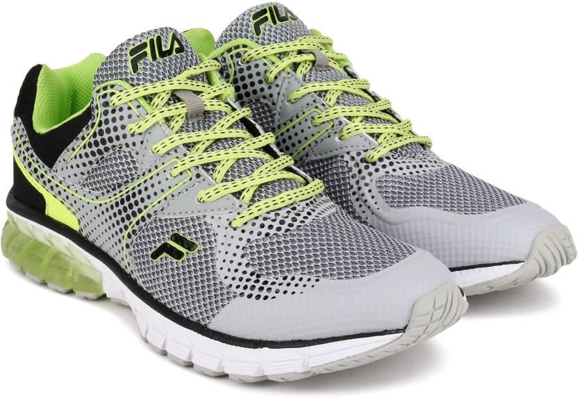 dceefdcb3068 Fila PATREGIA Running Shoes For Men - Buy LT GRY BLK LEM GRN Color ...