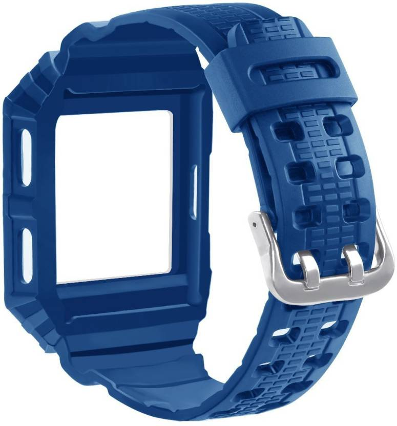 cf409cc18 ACUTAS Rugged Protective Case with Soft Silicone Wristband Sport Strap for Fitbit  Ionic - Blue Smart Watch Strap (Blue)