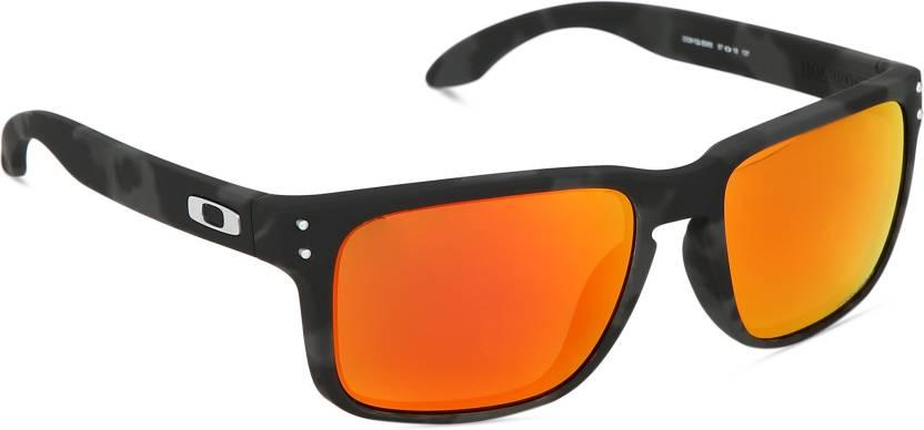 32751f29412 Buy Oakley HOLBROOK Retro Square Sunglass Red For Men   Women Online ...