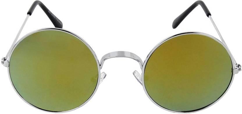 fe9488025c Buy Eagle Round Sunglasses Green For Men   Women Online   Best ...