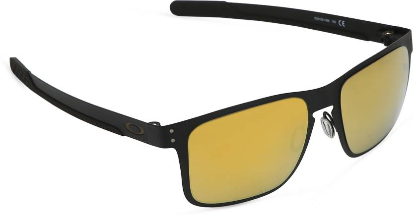 622e1846150 Buy Oakley HOLBROOK METAL Wayfarer Sunglass Golden For Men   Women ...
