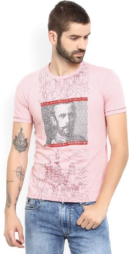 43433d2197e6 Duke Printed Men's Round Neck Pink T-Shirt - Buy Pink Duke Printed Men's  Round Neck Pink T-Shirt Online at Best Prices in India | Flipkart.com
