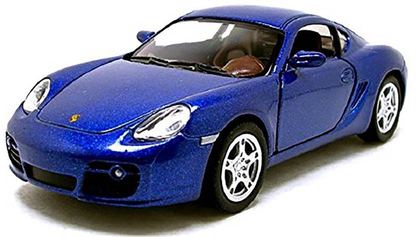 Jack Royal Shiny-Royal-Blue-Cayman-porsche-S kinsmart car