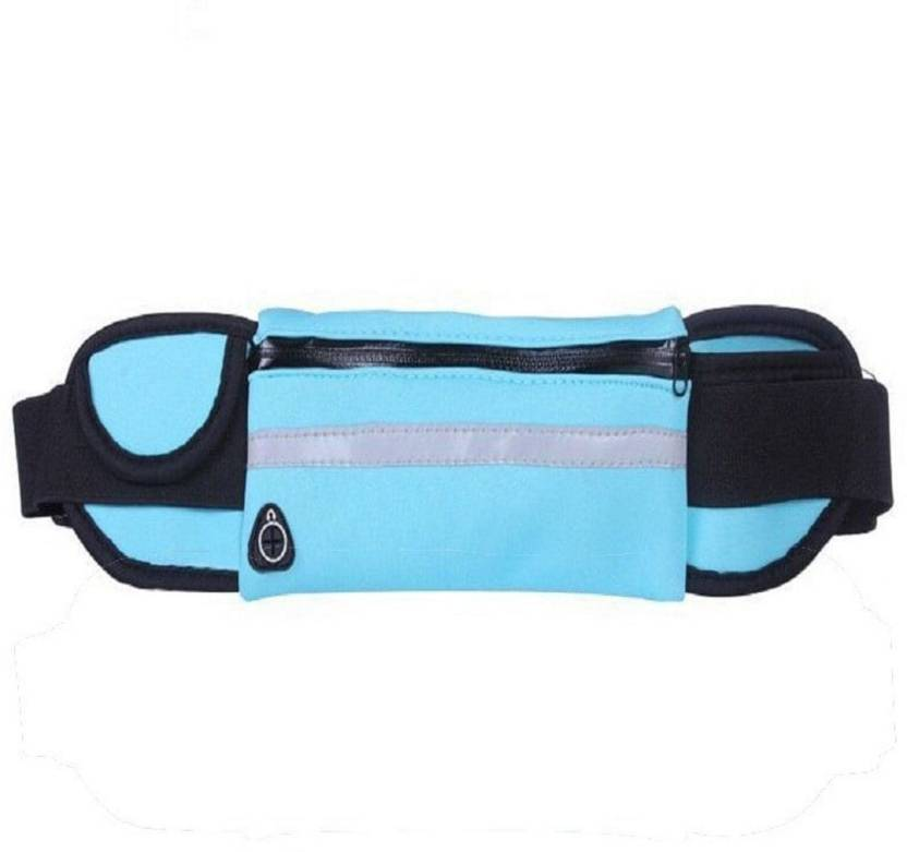 d749f3372c3472 FITGURU Running Belt,Sky Blue Colour Outdoor Waist Packs Bags Unisex Sport  Running, Waistband Travel Belt ...