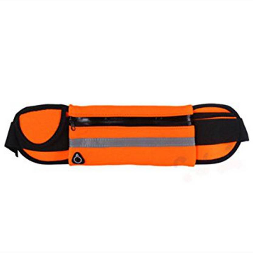 910a0216e5f2f1 FITGURU Running Belt, Orange Outdoor Waist Packs Bags Unisex Sport Running,  Waistband Travel Belt Compatible, ...
