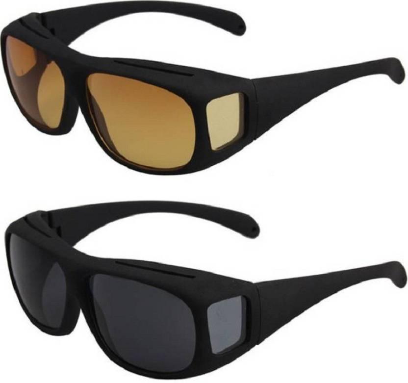 aae3542caf ... ESHDVS-New ImpressiveUnisex Wear Over Prescription Glasses Polarized Sunglasses  Sunglasses and Night Vision Glasses. Motorcycle Goggles (Yellow