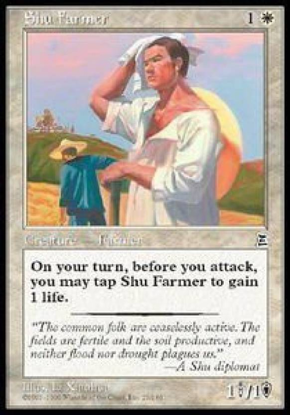Generic Magic: the Gathering - Shu Farmer - Portal Three