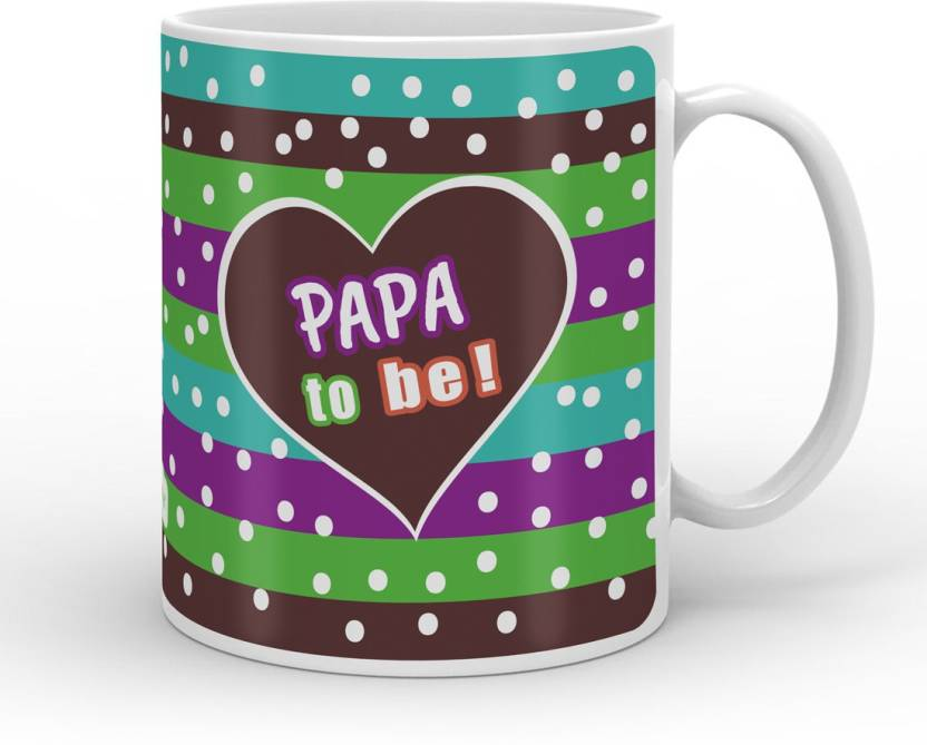 Indigifts Decorative Gift Items For Papa Fathers Birthday Dad Gifts Parents Day To Be Quote Ceramic Mug 330 Ml