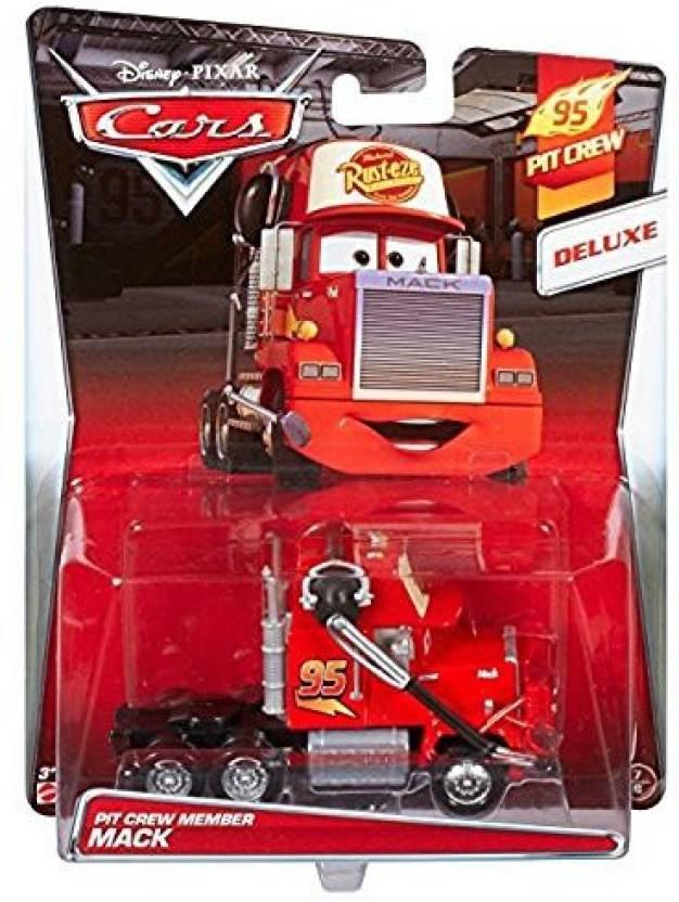 Mattel Disney/Pixar Cars, 95 Pit Crew 2015 Series, Pit Crew Member Mack [With Headset] Deluxe Die-Cast Vehicle #7/8, 1:55 Scale - Disney/Pixar Cars, ...